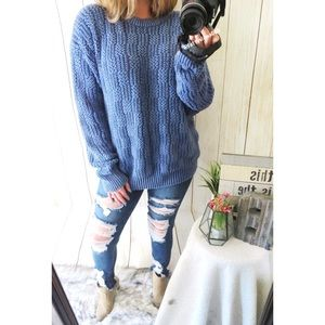 Vintage chilly weather thick knit sweater 🌿